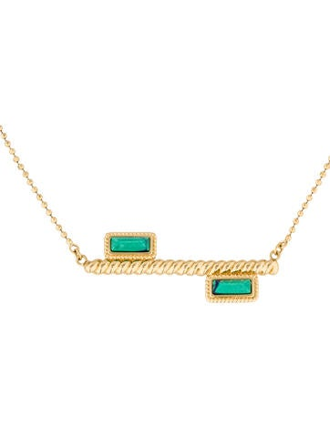 Rachel Zoe Howlite Bar Pendant Necklace