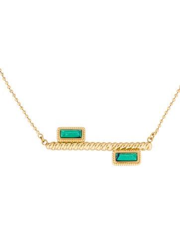 Rachel Zoe Howlite Bar Pendant Necklace