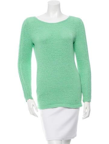 Rachel Zoe Knit Scoop Neck Sweater None
