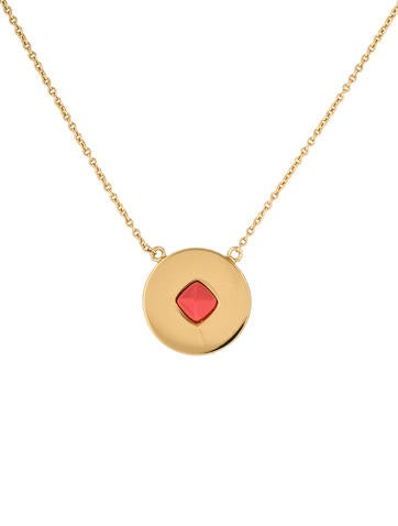 Rachel Zoe Stud Disc Necklace
