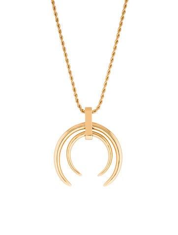 Rachel Zoe Dual Horn Pendant Necklace