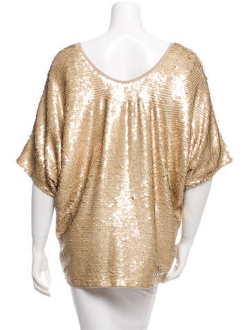 Sequined Short Sleeve Top w/ Tags