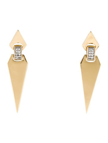 Rachel Zoe Double Pointed Crystal Drop Earrings