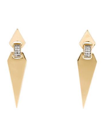 Rachel Zoe Double Pointed Crystal Drop Earrings