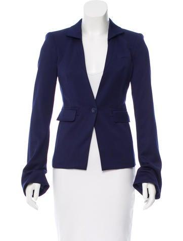 Rachel Zoe Single-Button Wool Blazer w/ Tags None