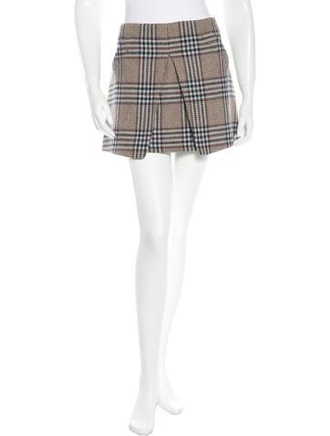 Rachel Zoe Wool Plaid Skirt None