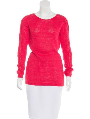 Rachel Zoe Rib Knit Round Neck Sweater None