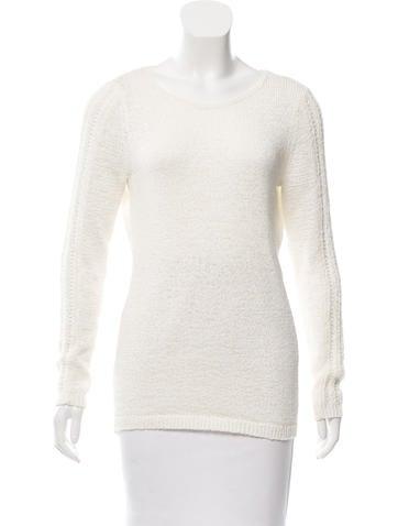Rachel Zoe Crew Neck Rib Knit Sweater None