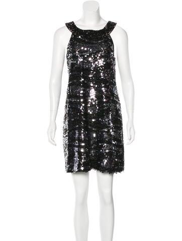 Rachel Zoe Sleeveless Sequin Dress s None