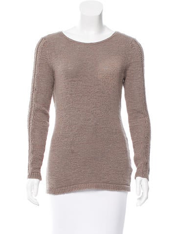 Rachel Zoe Long Sleeve Open Knit Sweater