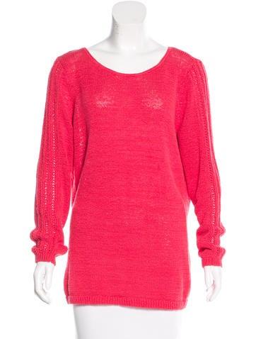Rachel Zoe Open Knit Paneled Sweater None