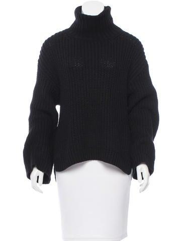 Rachel Zoe Rib Knit Turtleneck Sweater None