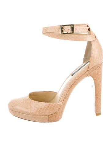 Rachel Zoe Embossed Snake Skin Pumps None