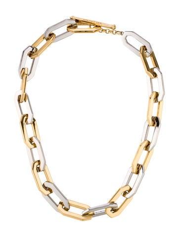 Rachel Zoe Two-Tone Link Necklace