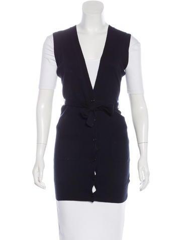 Rachel Zoe Longline Belted Vest None
