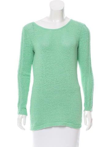 Rachel Zoe Lightweight Open Knit Sweater None