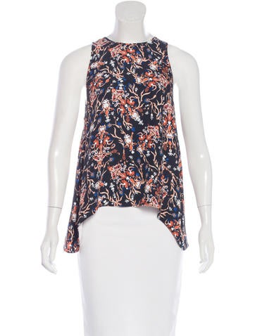 Rachel Zoe Printed Sleeveless Top None