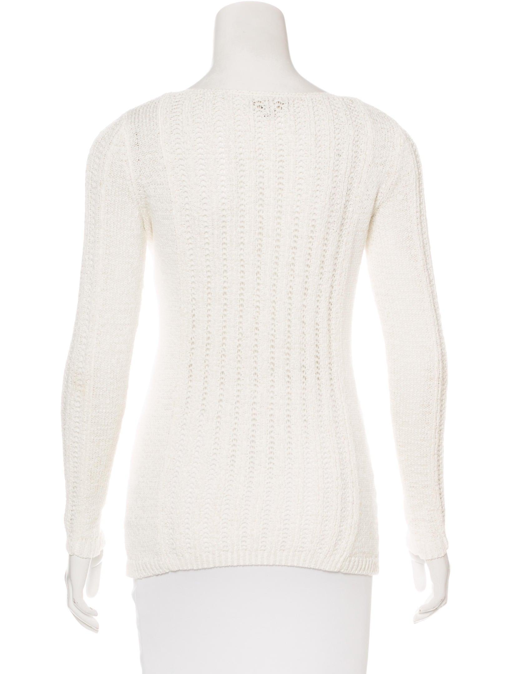 Rachel Zoe Open Knit Scoop Neck Sweater - Clothing - WRL28222 The RealReal
