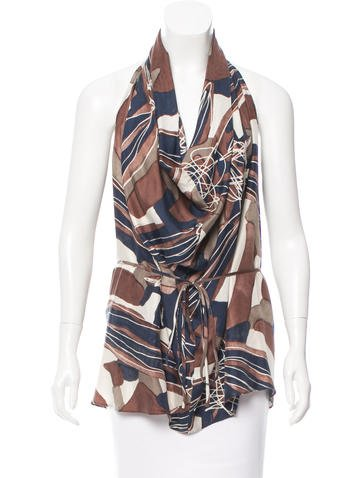 Rachel Zoe Silk Halter Top None