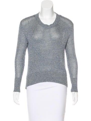 Rachel Zoe Linen Crew Neck Sweater None