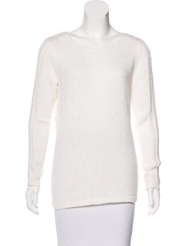 Rachel Zoe Open Knit Scoop-Neck Sweater None