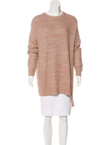 Rachel Zoe Silk-Blend Rib-Knit Sweater w/ Tags None