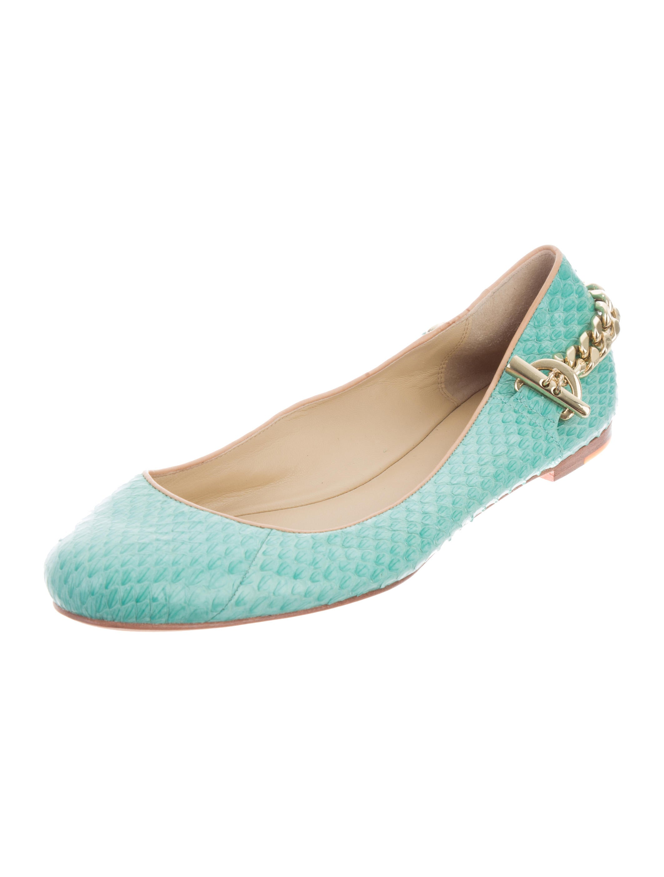Rachel Zoe Chain-Link Snakeskin Flats sale cheapest price 100% original online free shipping with credit card outlet best store to get C5m4Jslj