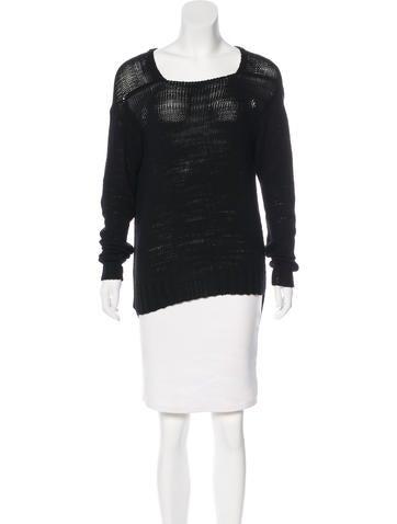 Rachel Zoe High-Low Knit Sweater None
