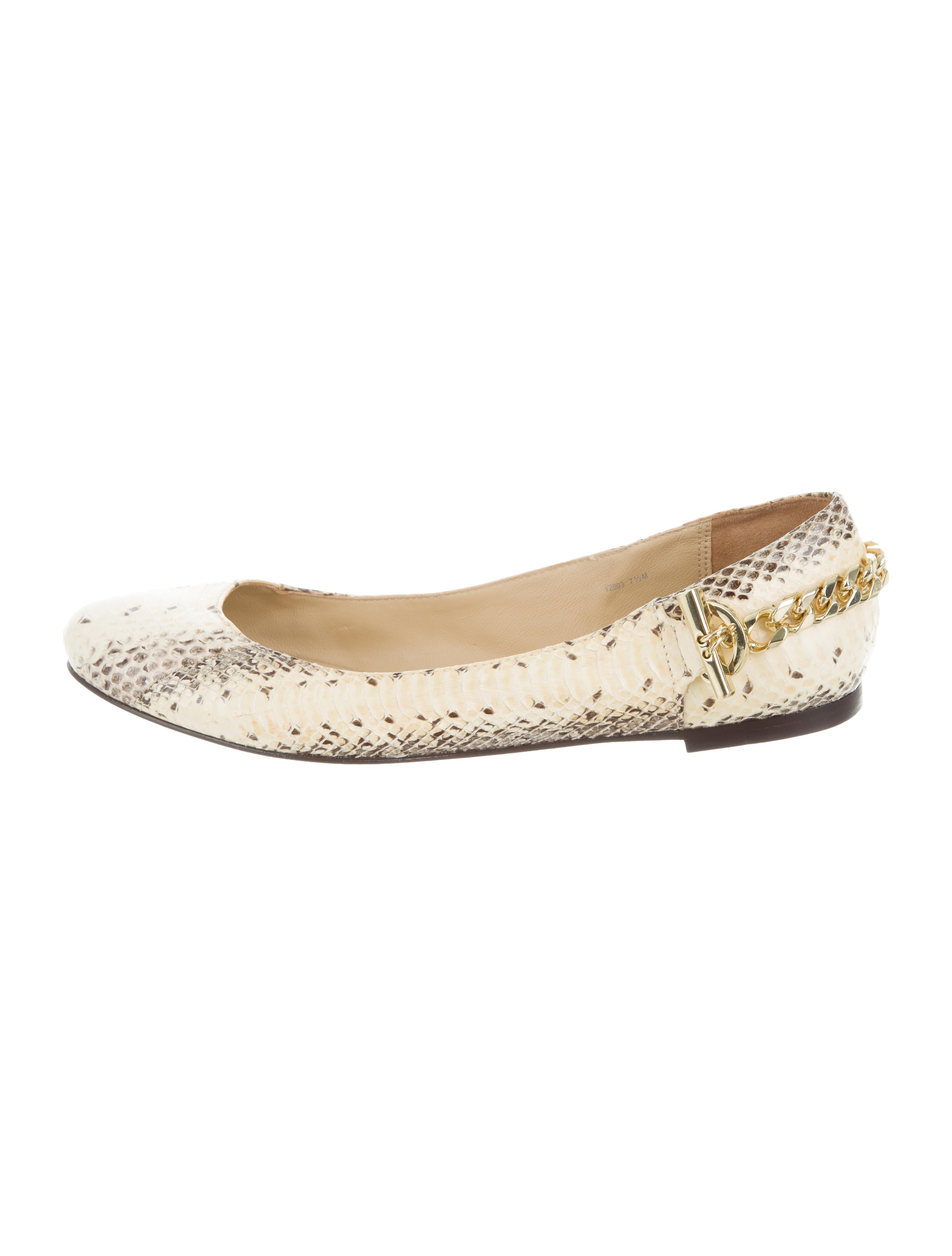 Rachel Zoe Python Chain-Link Flats clearance view discount browse discount exclusive for sale cheap sale manchester great sale RjXHkjQ