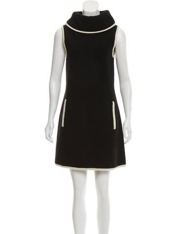 Rachel Zoe Wool Sleeveless Mini Dress None
