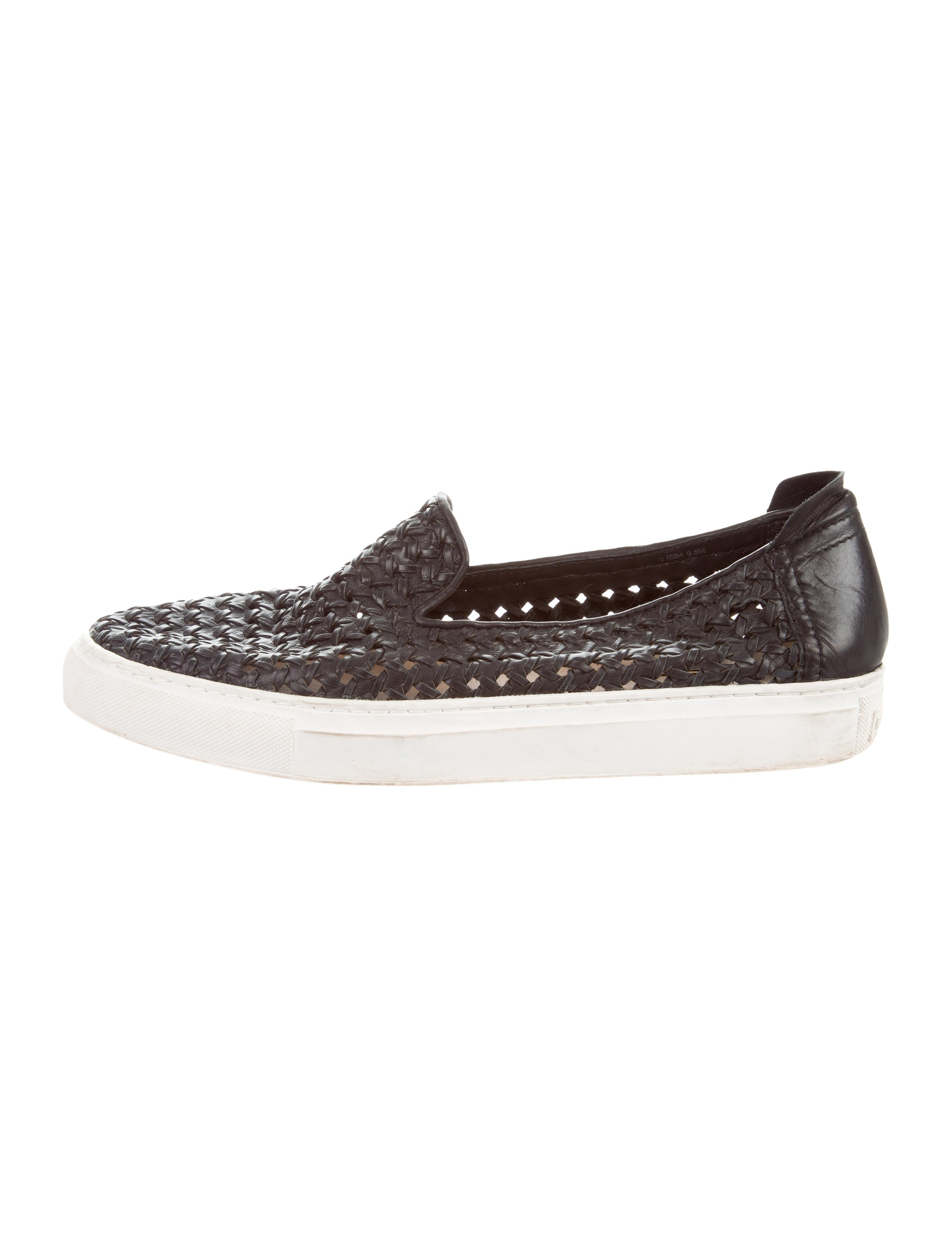 pay with paypal cheap price Rachel Zoe Woven Leather Slip-On Sneakers latest collections clearance best 7l3tthCN