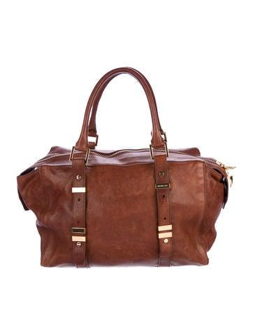 Distressed Leather Shoulder Bag
