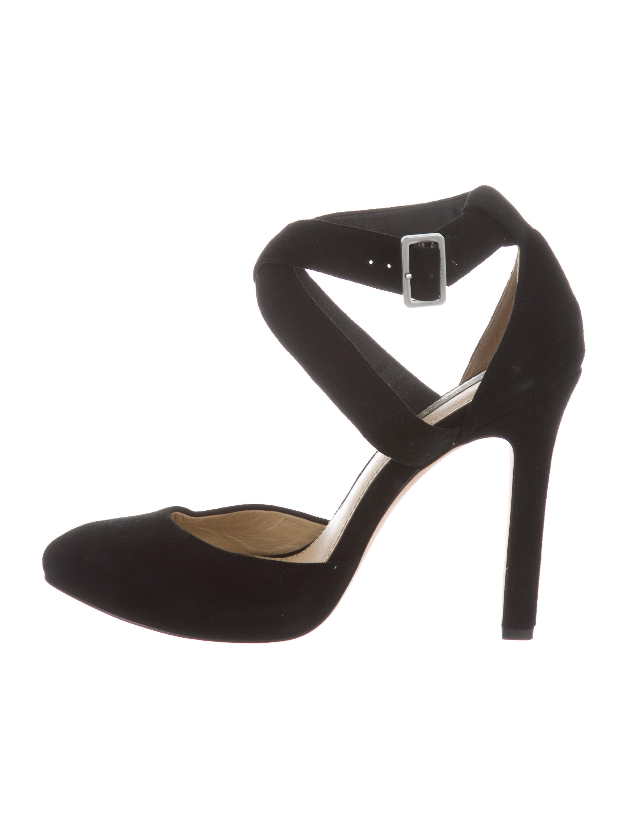 comfortable sale online Rachel Zoe Suede Ankle Strap Pumps buy cheap outlet cBQyNNQ