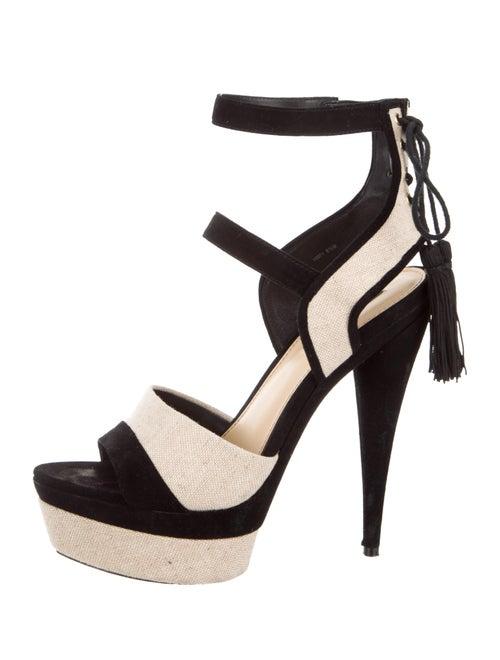 e3db47ce3234 Rachel Zoe Blake Suede   Linen Platform Sandals - Shoes - WRL37995 ...
