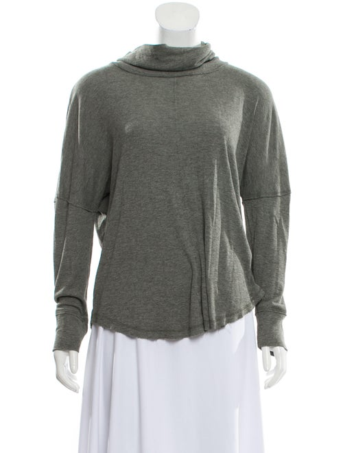 Rachel Zoe Turtleneck Long Sleeve Sweatshirt Grey