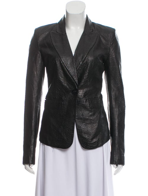 Rachel Zoe Leather Blazer Black