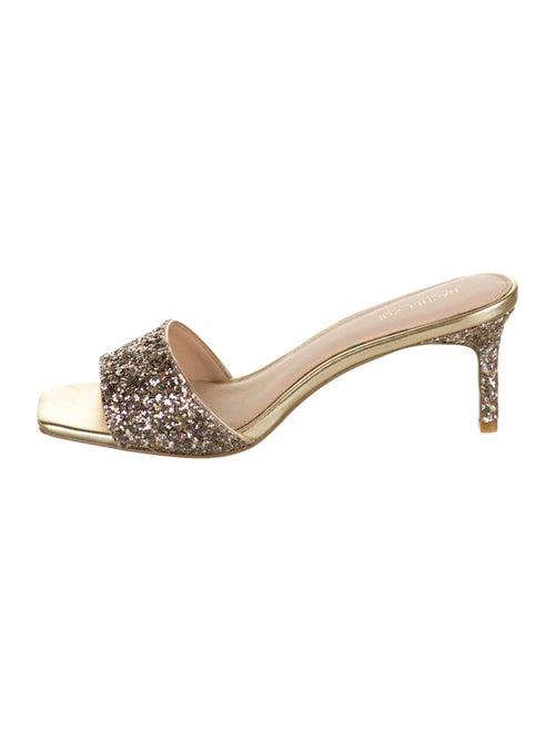Rachel Zoe Samantha Glitter Sandals Metallic