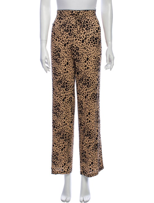 Rachel Zoe Animal Print Wide Leg Pants