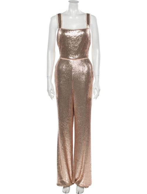 Rachel Zoe Square Neckline Jumpsuit Metallic