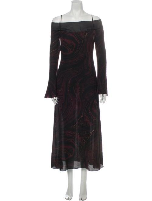 Rachel Zoe Printed Long Dress