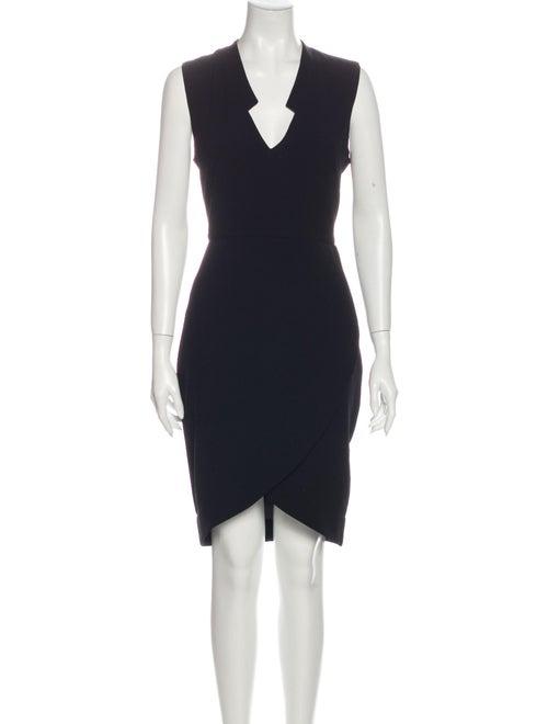 Rachel Zoe V-Neck Knee-Length Dress Black