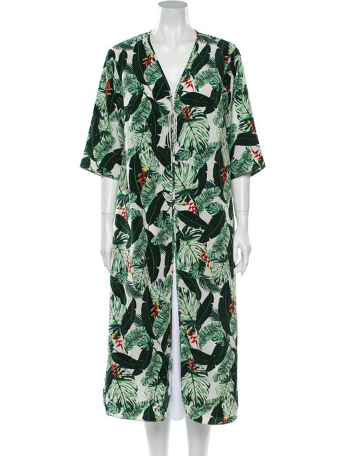 Rachel Zoe Printed Coat Green