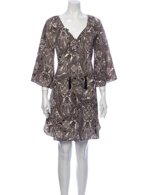 Rachel Zoe Paisley Print Mini Dress Grey - image 1
