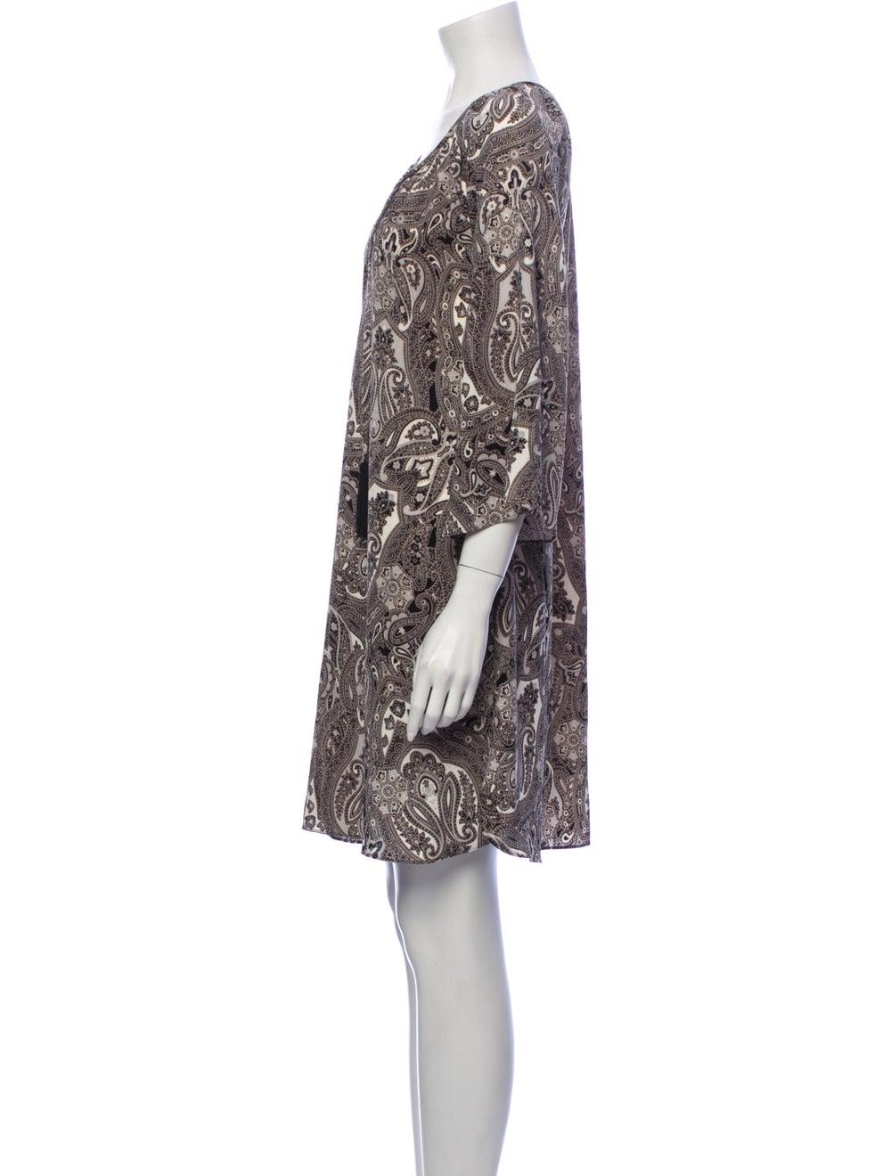 Rachel Zoe Paisley Print Mini Dress Grey - image 2