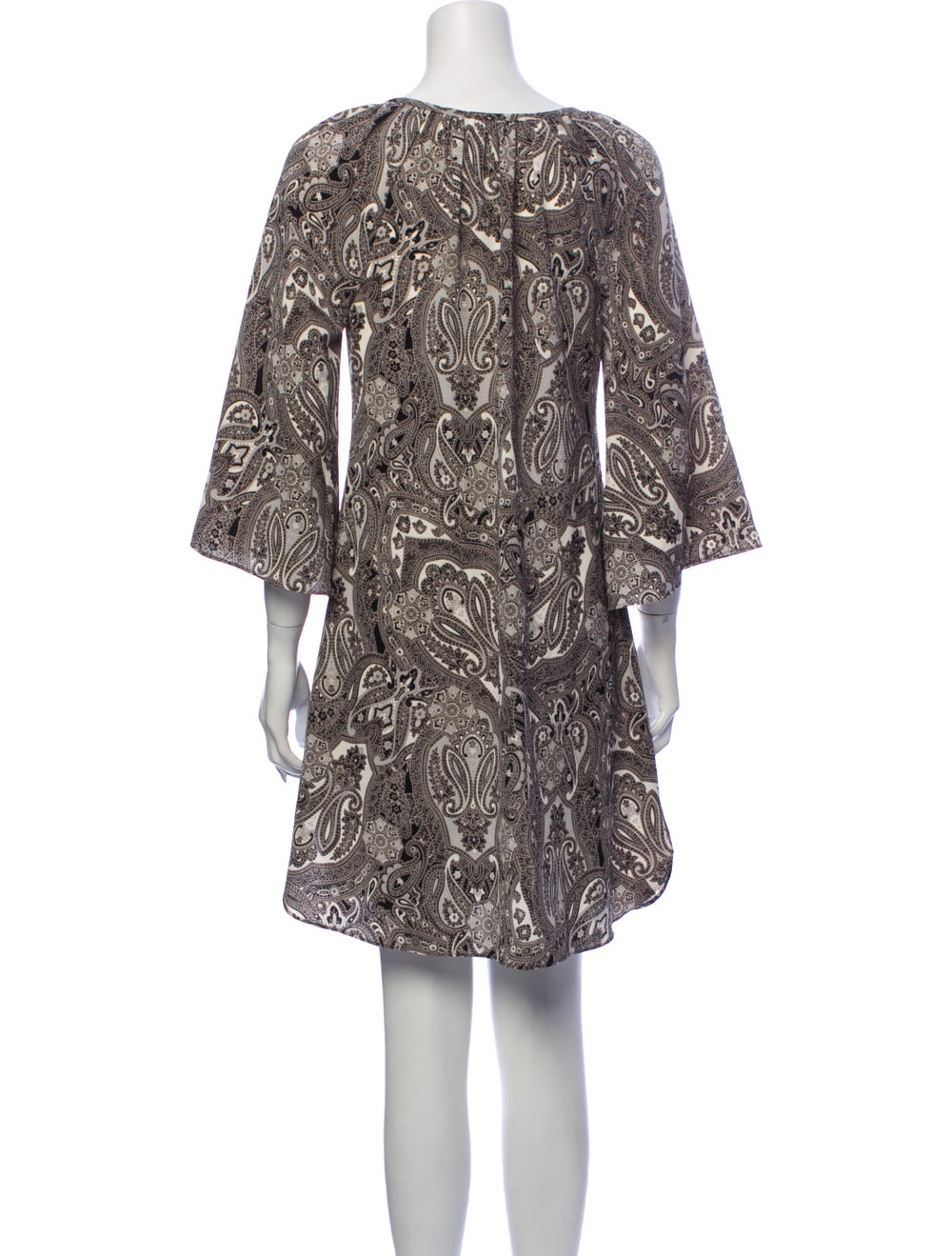 Rachel Zoe Paisley Print Mini Dress Grey - image 3