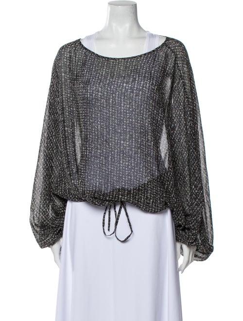 Rachel Zoe Silk Printed Blouse Grey