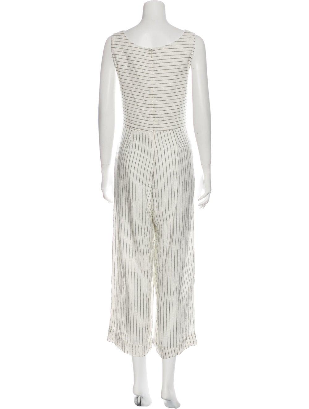 Rachel Zoe Linen Striped Jumpsuit White - image 3