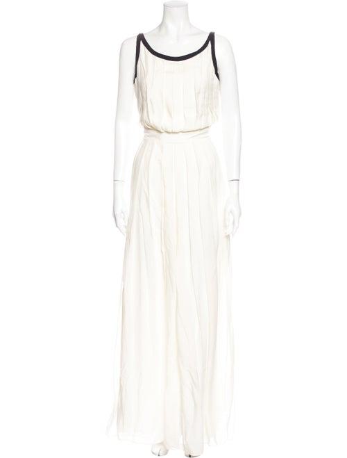 Rachel Zoe Silk Long Dress White