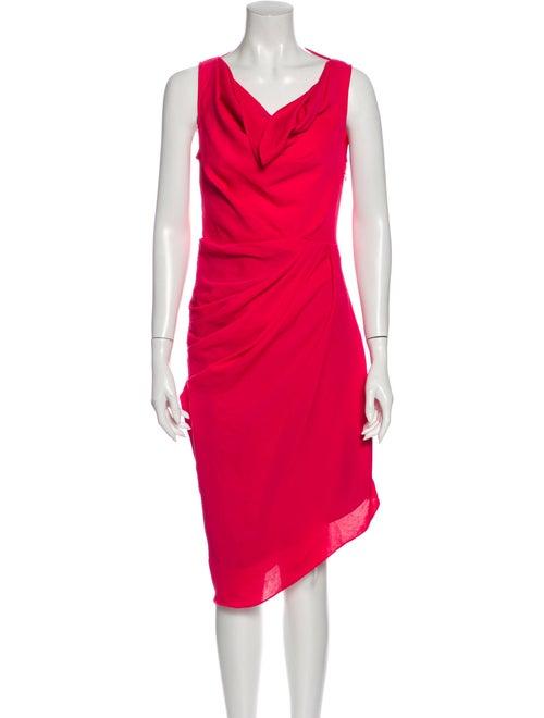 Rachel Zoe Cowl Neck Midi Length Dress Pink