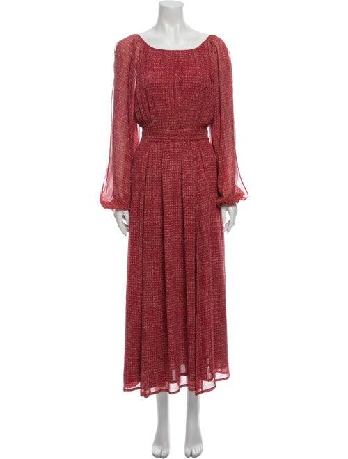Rachel Zoe Silk Knee-Length Dress Red